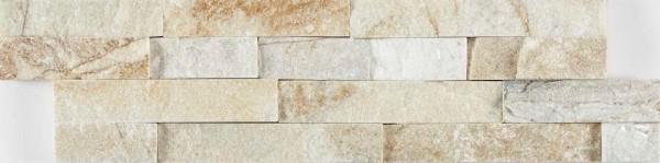 Sample Cream Quartz Split Face Mosaic Tile